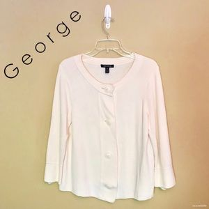 GUC - George - Cream Chunky Button Cardigan - M